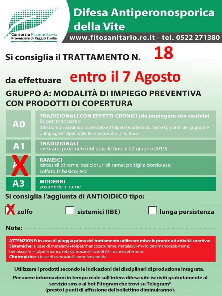 Calendario Dei Trattamenti Della Vite 2019.Consorzio Fitosanitario Provinciale Nota